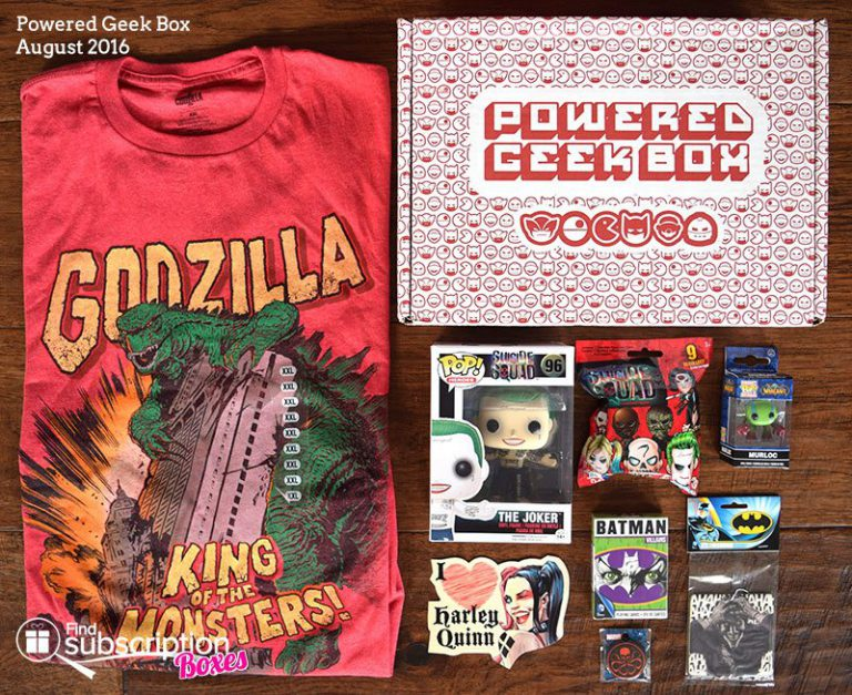Powered Geek Box August 2016 Review - Box Contents