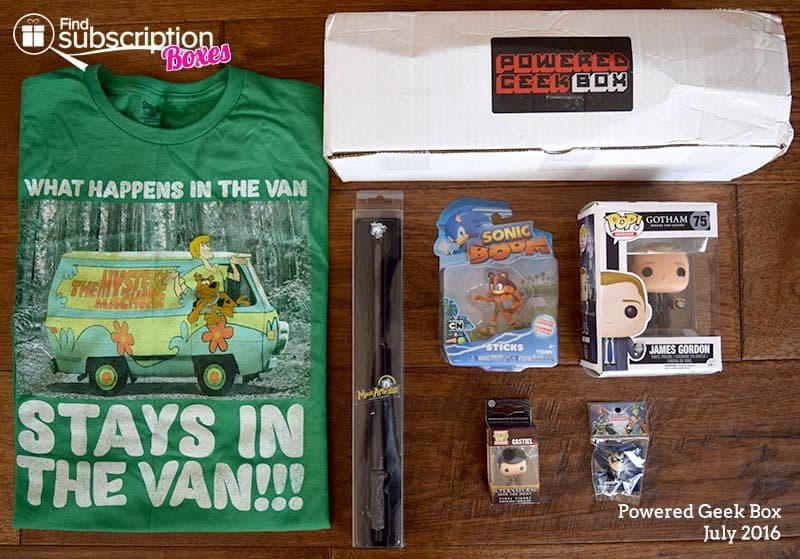 Powered Geek Box July 2016 Review - Box Contents