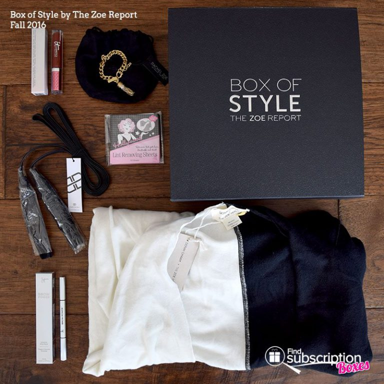 Rachel Zoe Fall 2016 Box of Style Review - Box Contents