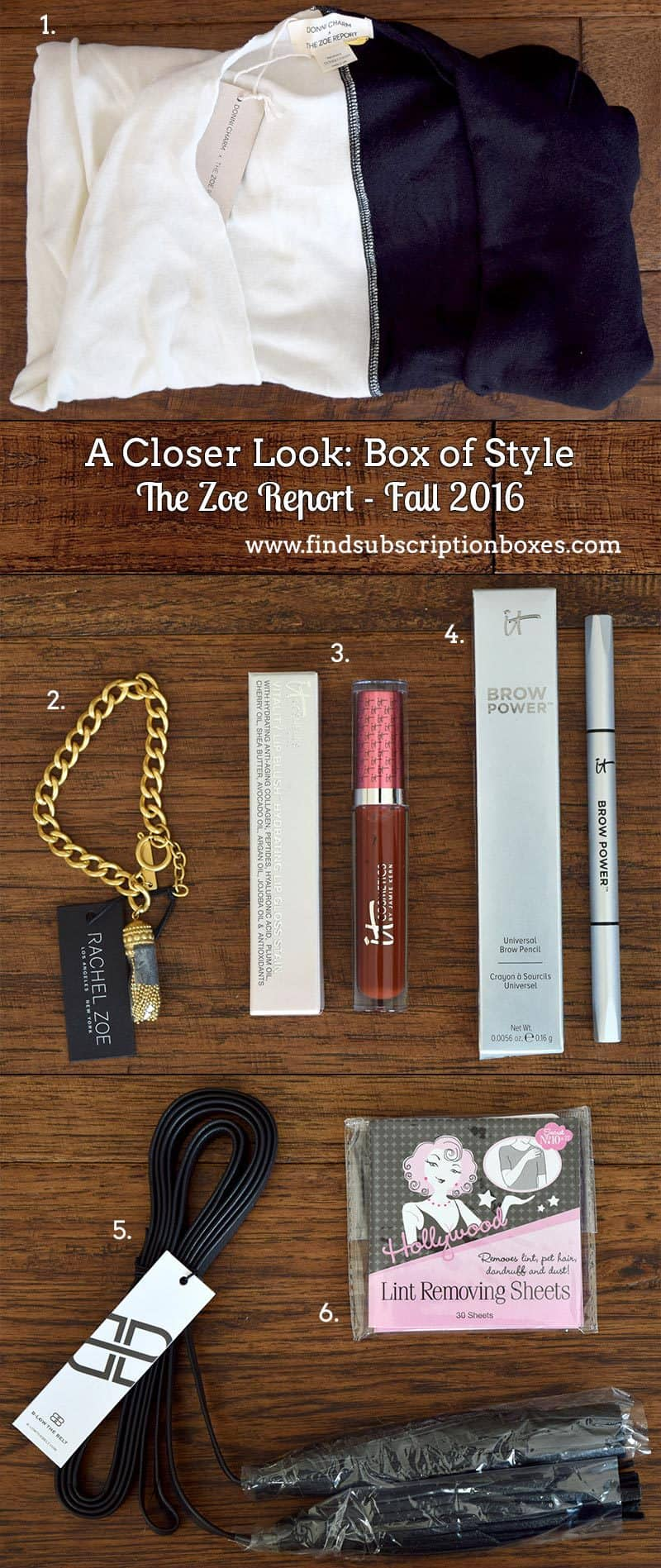 Rachel Zoe Fall 2016 Box of Style Review - Inside the Box