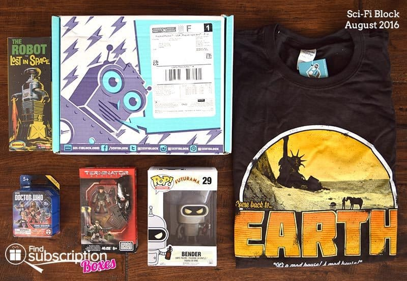 August 2016 Sci-Fi Block Review - Box Contents