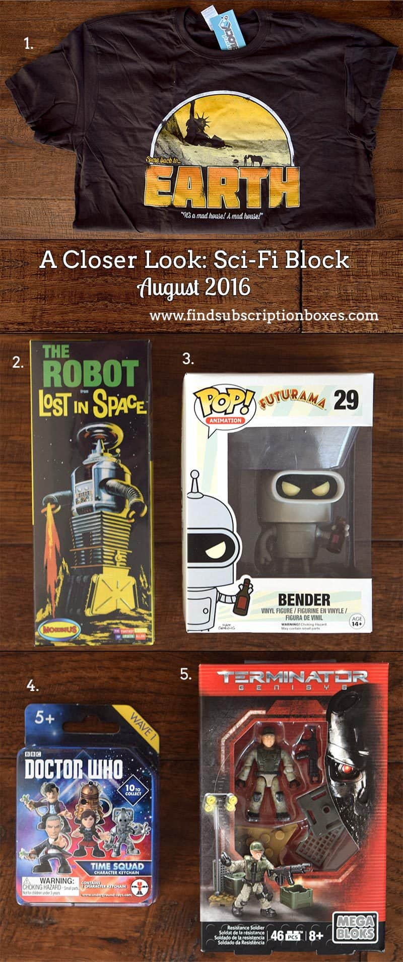 Sci-Fi Block August 2016 Review - Inside the Box