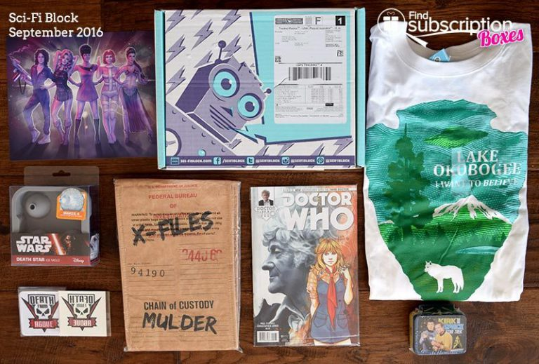 Sci-Fi Block September 2016 Review - Box Contents