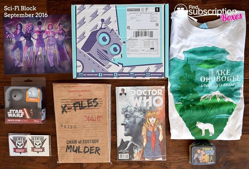 September 2016 Sci-Fi Block Review - Box Contents