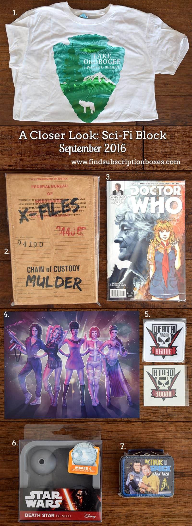 Sci-Fi Block September 2016 Review - Inside the Box