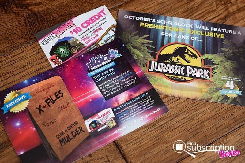 Sci-Fi Block September 2016 Review - Cards