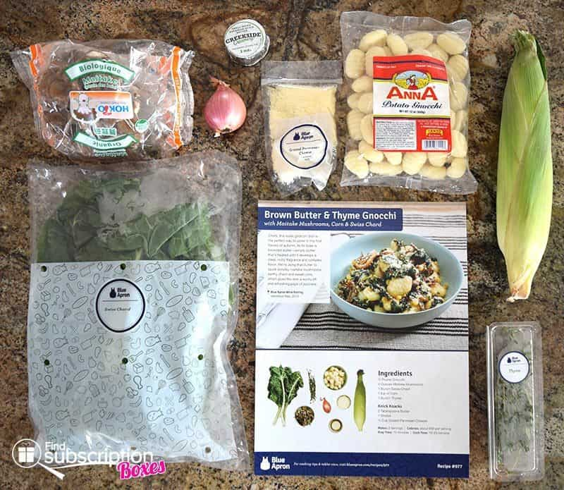 September 2016 Blue Apron Review - Gnocchi Ingredients