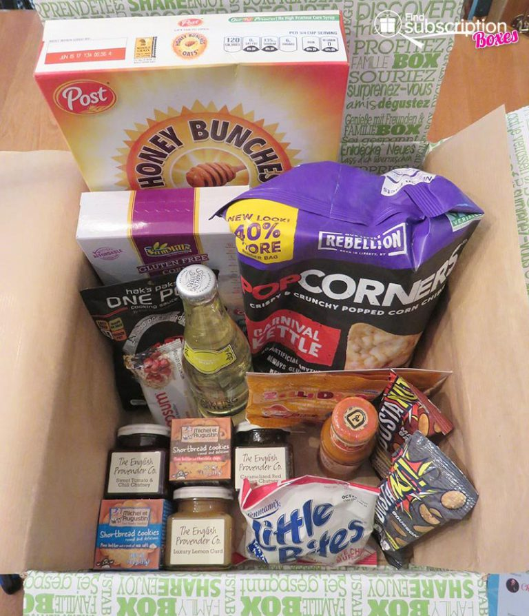 Degustabox September 2016 Review - Box Contents