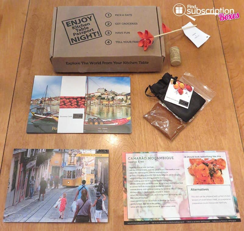 September 2016 Kitchen Table Passport Review - Portugal Box
