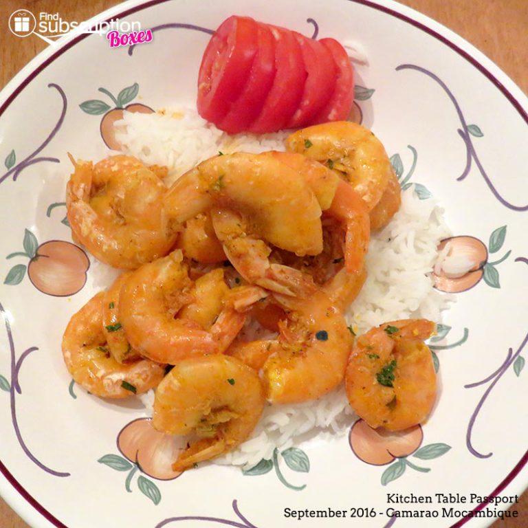 September 2016 Kitchen Table Passport Review - Camarao Mocambique