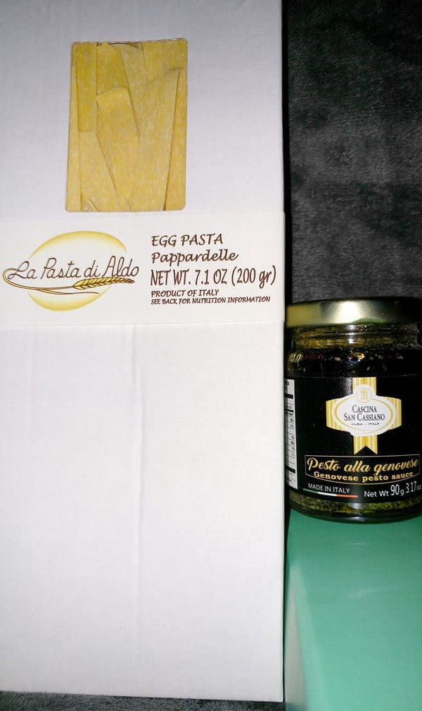 September Try The World Italy Box Review - Egg Noodles & Pesto