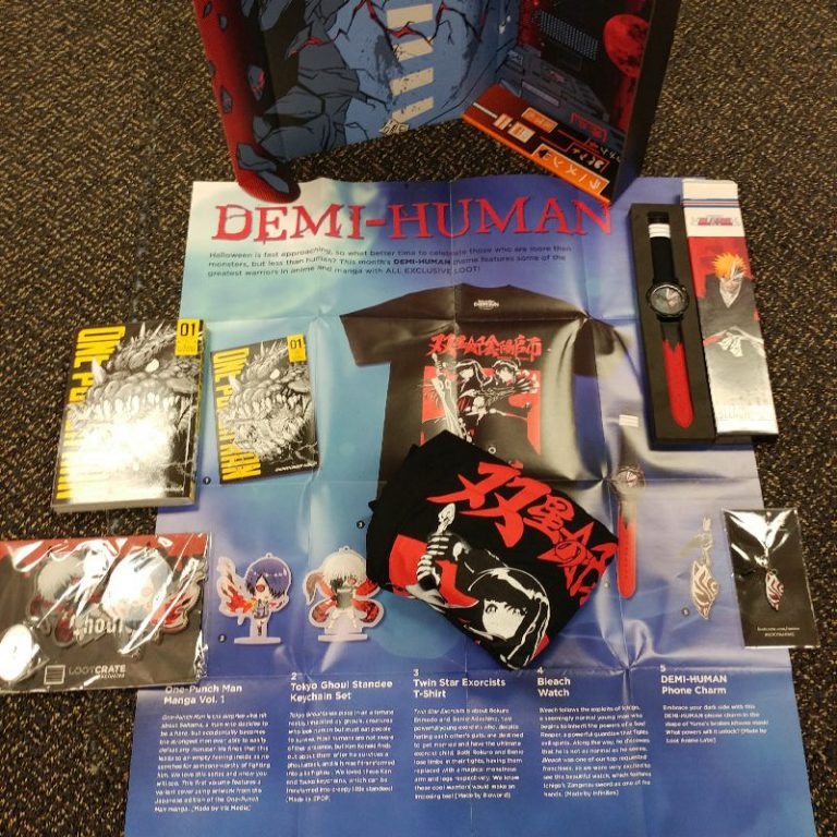 September 2016 Loot Anime Review - Box Contents