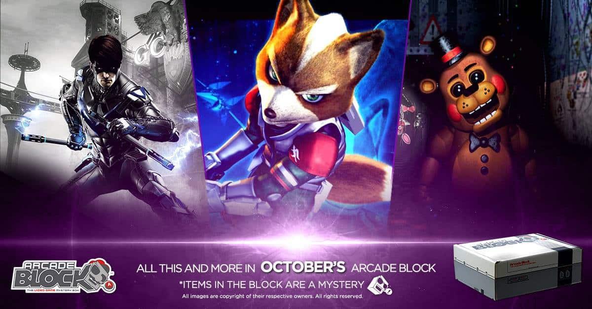 Arcade Block October 2016 Box Spoilers