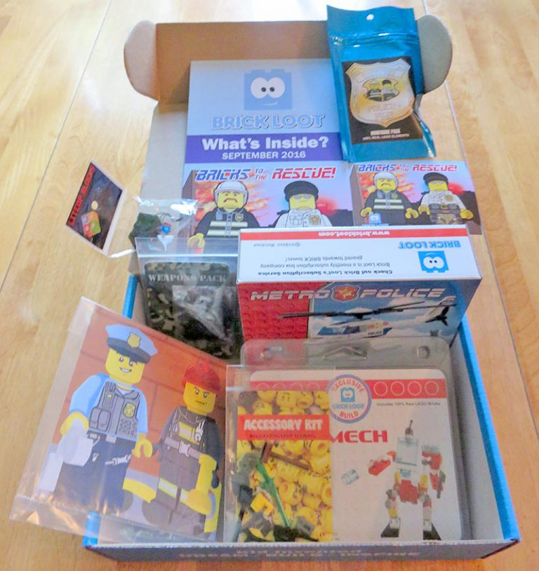 Brick Loot September 2016 Review - Box Contents