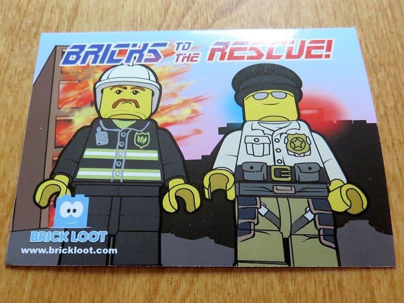 Brick Loot September 2016 Review - Card