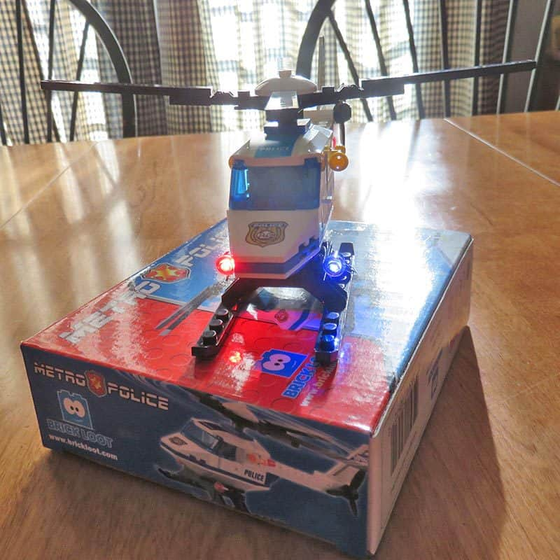Brick Loot September 2016 Review - Police Helicopter