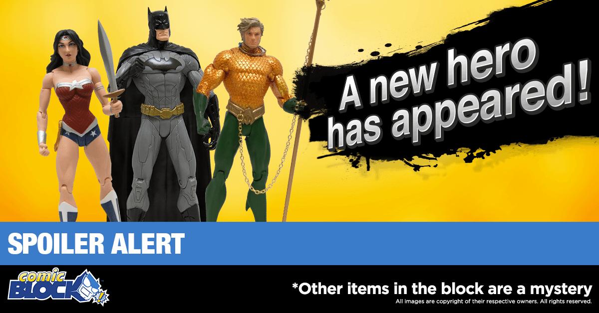 Comic Block October 2016 Box Spoiler - Justice League Figure