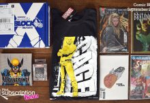 Comic Block September 2016 Box Review - Box Contents