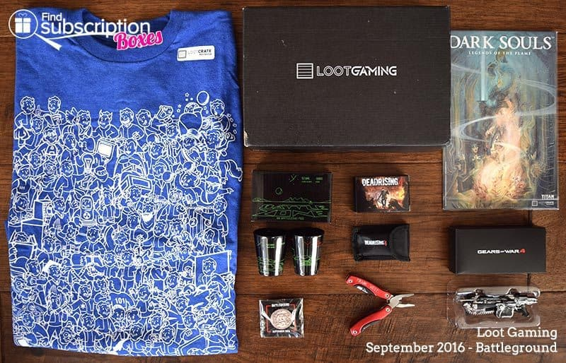 September 2016 Loot Gaming Review - Battleground - Box Contents