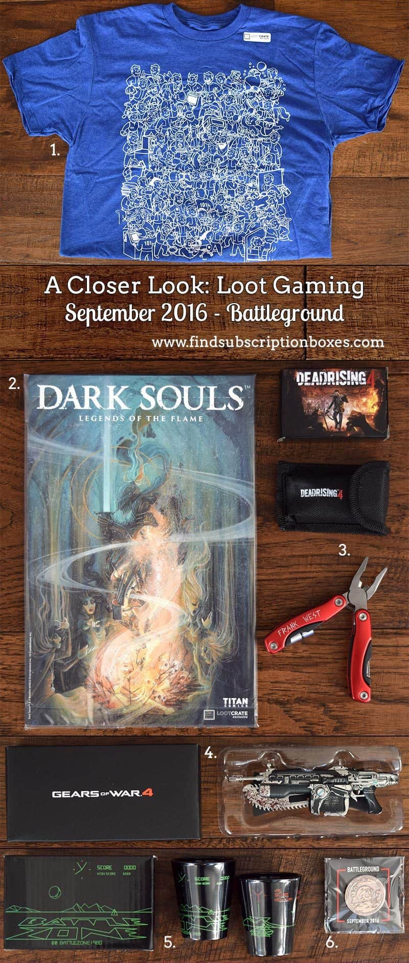 September 2016 Loot Gaming Review - Battleground - Inside the Box