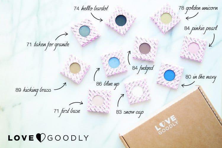 October/November 2016 LOVE GOODLY Box Spoiler - Lippy Girl Eyeshadow