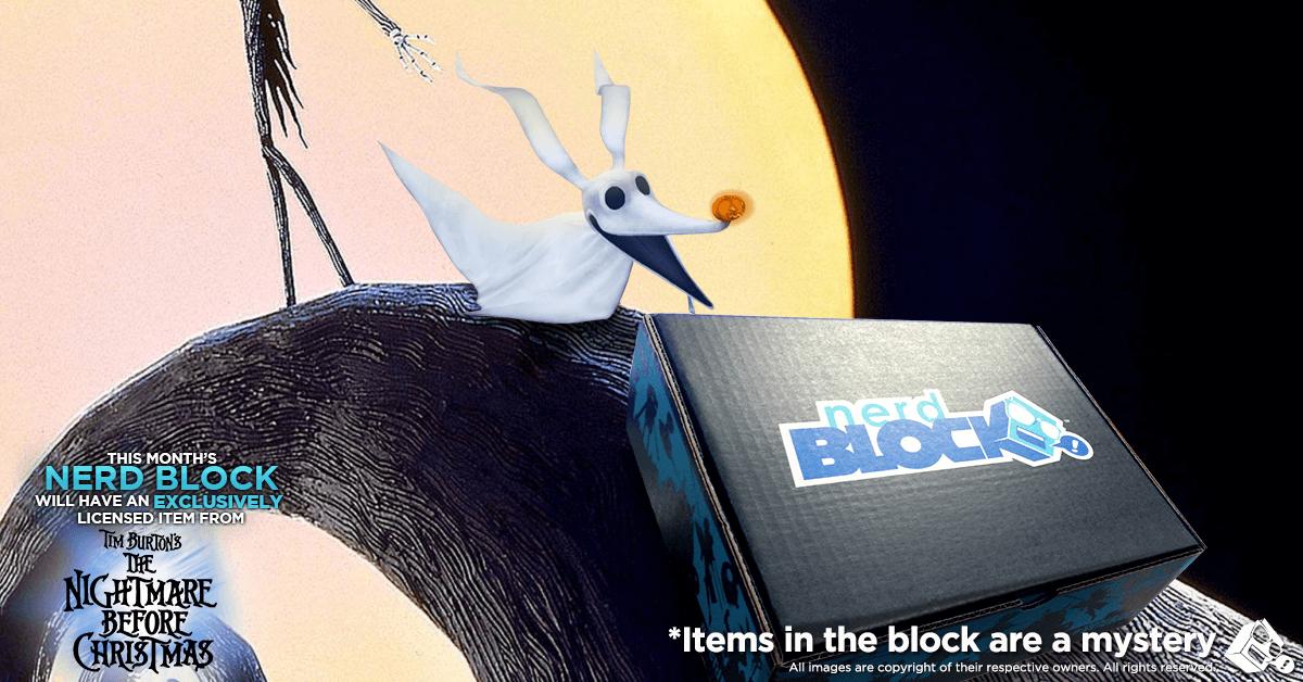 Nerd Block November 2016 Classic Block Box Spoiler - Nightmare Before Christmas