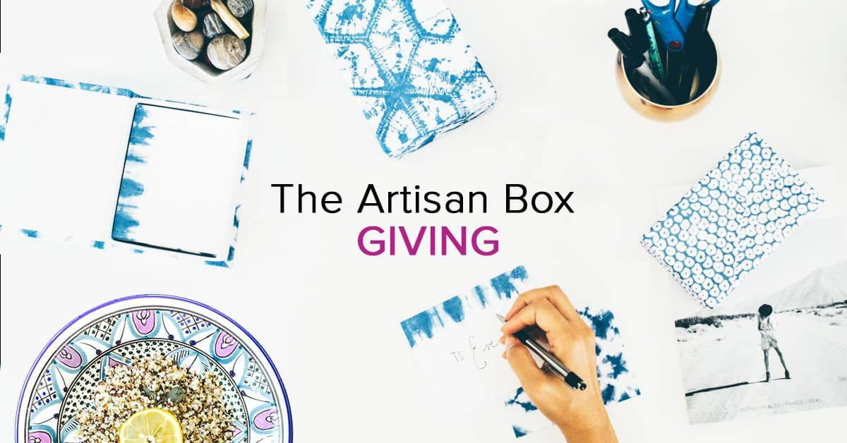 GlobeIn November 2016 Artisan Box Theme - Giving