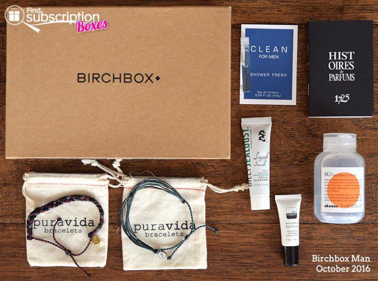 October 2016 Birchbox Man Review - Box Contents
