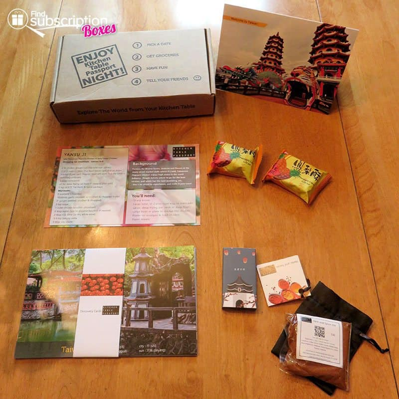 October 2016 Kitchen Table Passport Review - Taiwan - Box Contents
