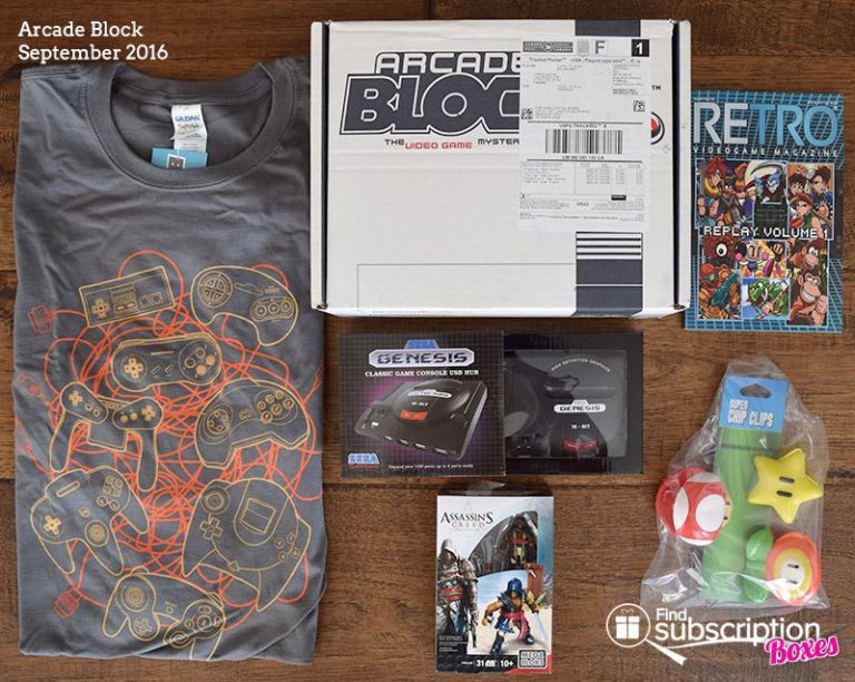 September 2016 Arcade Block Review - Box Contents