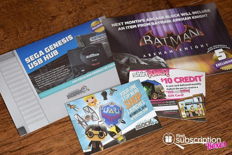 September 2016 Arcade Block Review - Product Cards