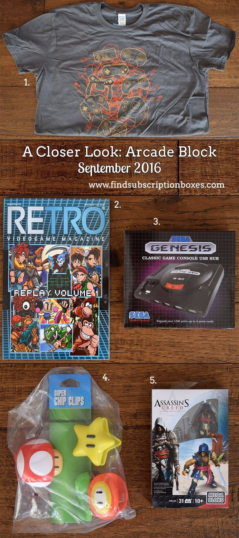 September 2016 Arcade Block Review - Inside the Box