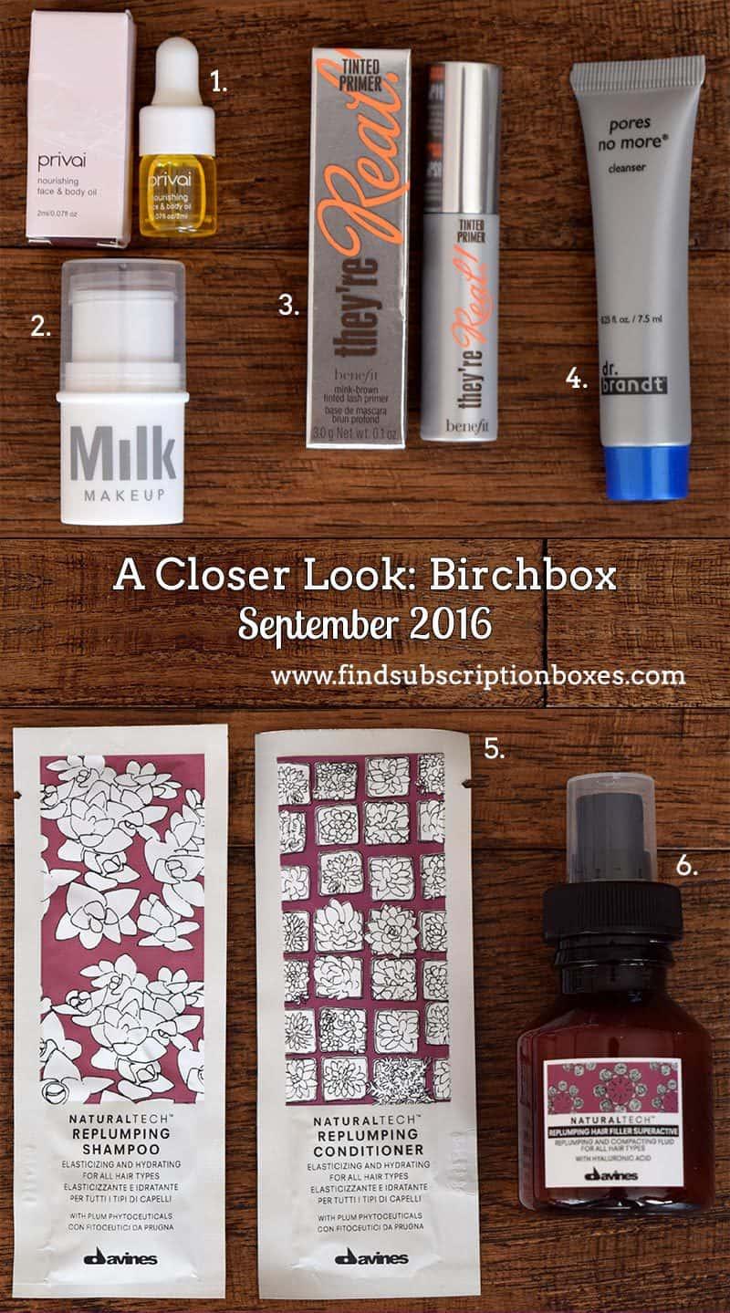 September 2016 Birchbox Review - Inside the Box