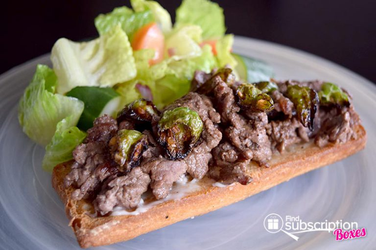 September 2016 Blue Apron Review - Beef & Shishito Open-Faced Sandwiches