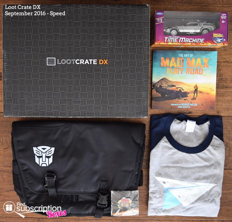 September 2016 Loot Crate DX Review - Speed - Box Contents