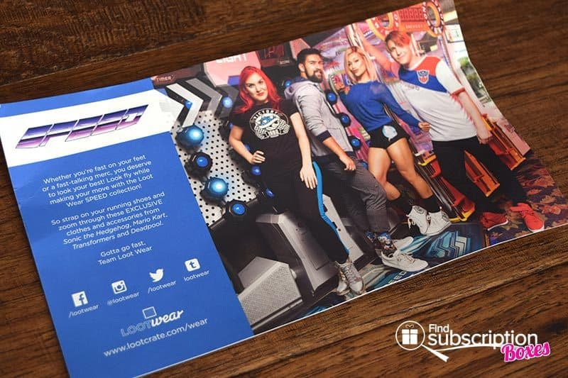 September 2016 Loot Wear Review - Speed - Card