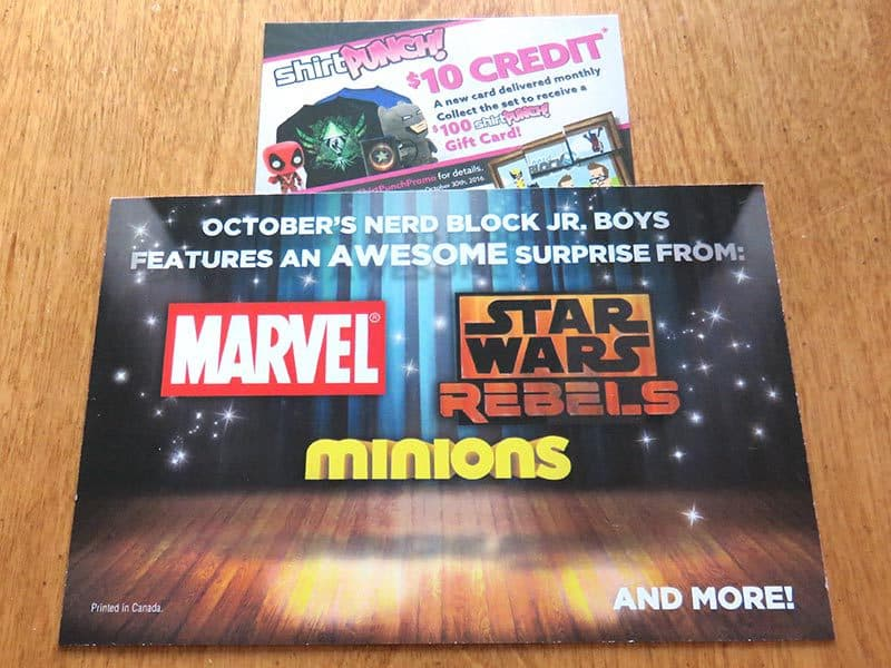 September 2016 Nerd Block Jr. for Boys Review - Spoilers