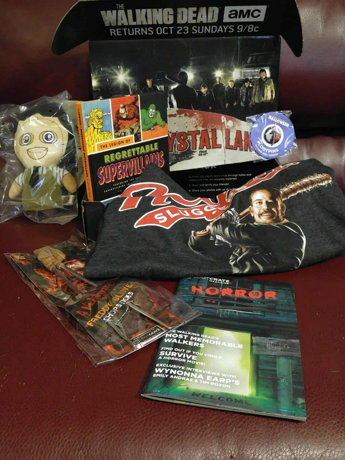 October 2016 Loot Crate Horror Crate Review - Box Contents