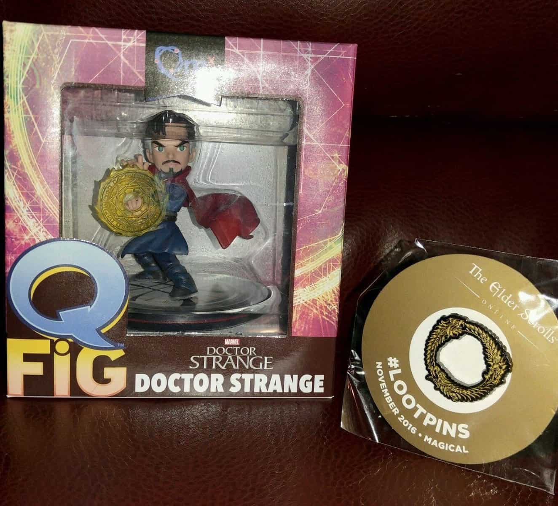 November 2016 Loot Crate Review - Magical Crate - Doctor Strange, Loot Pin