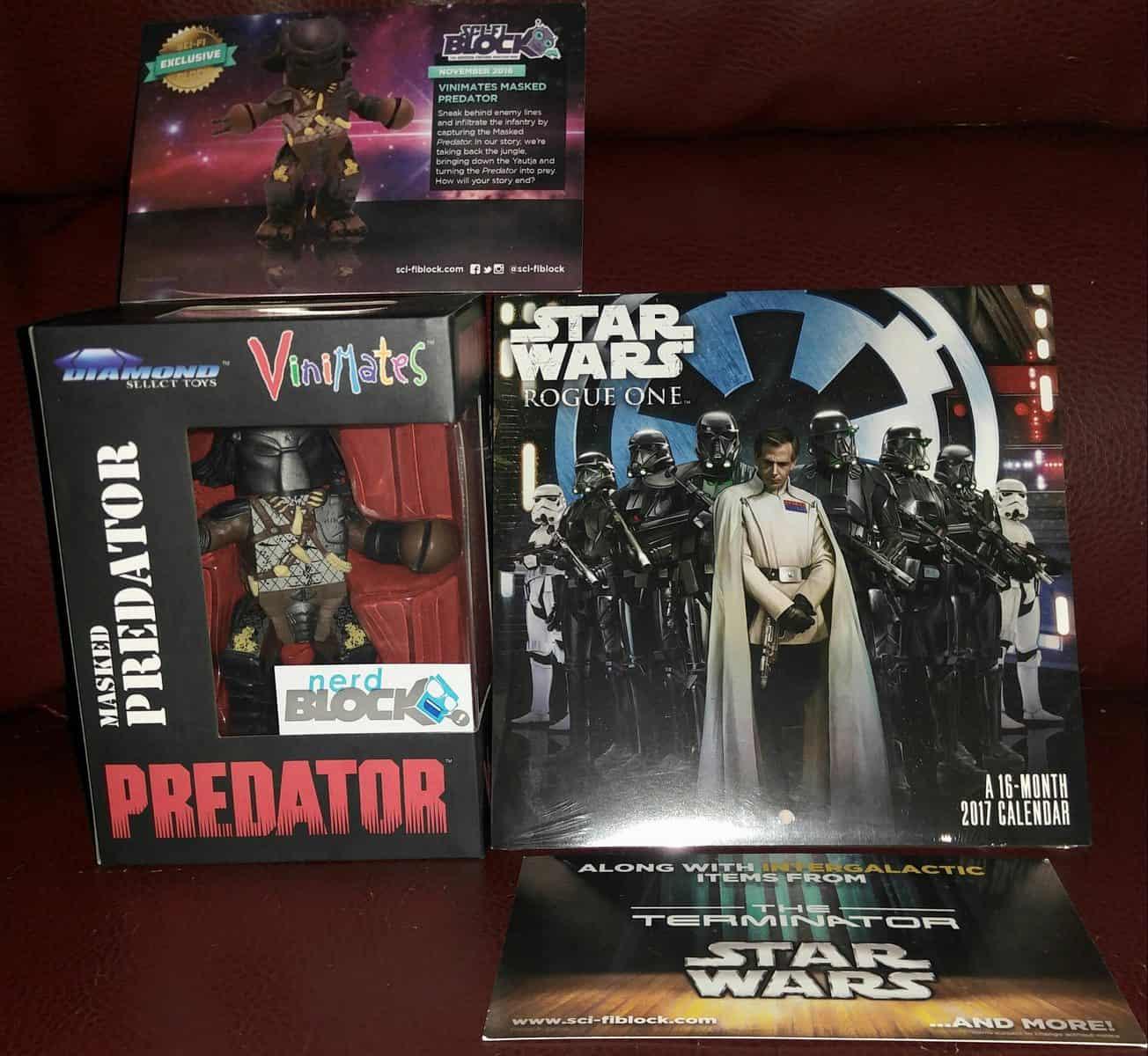 November 2016 Sci-Fi Block Review - Predator & Star Wars Calendar