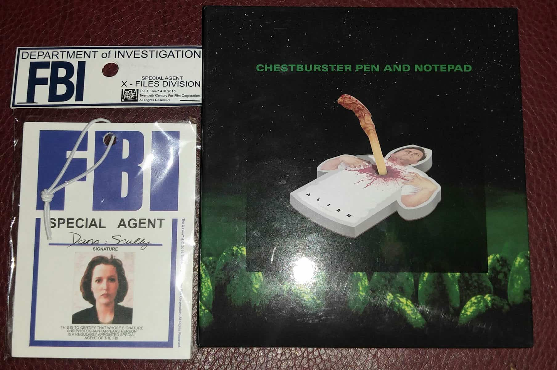 November 2016 Sci-Fi Block Review - X-Files Badge & Chestburster Pad