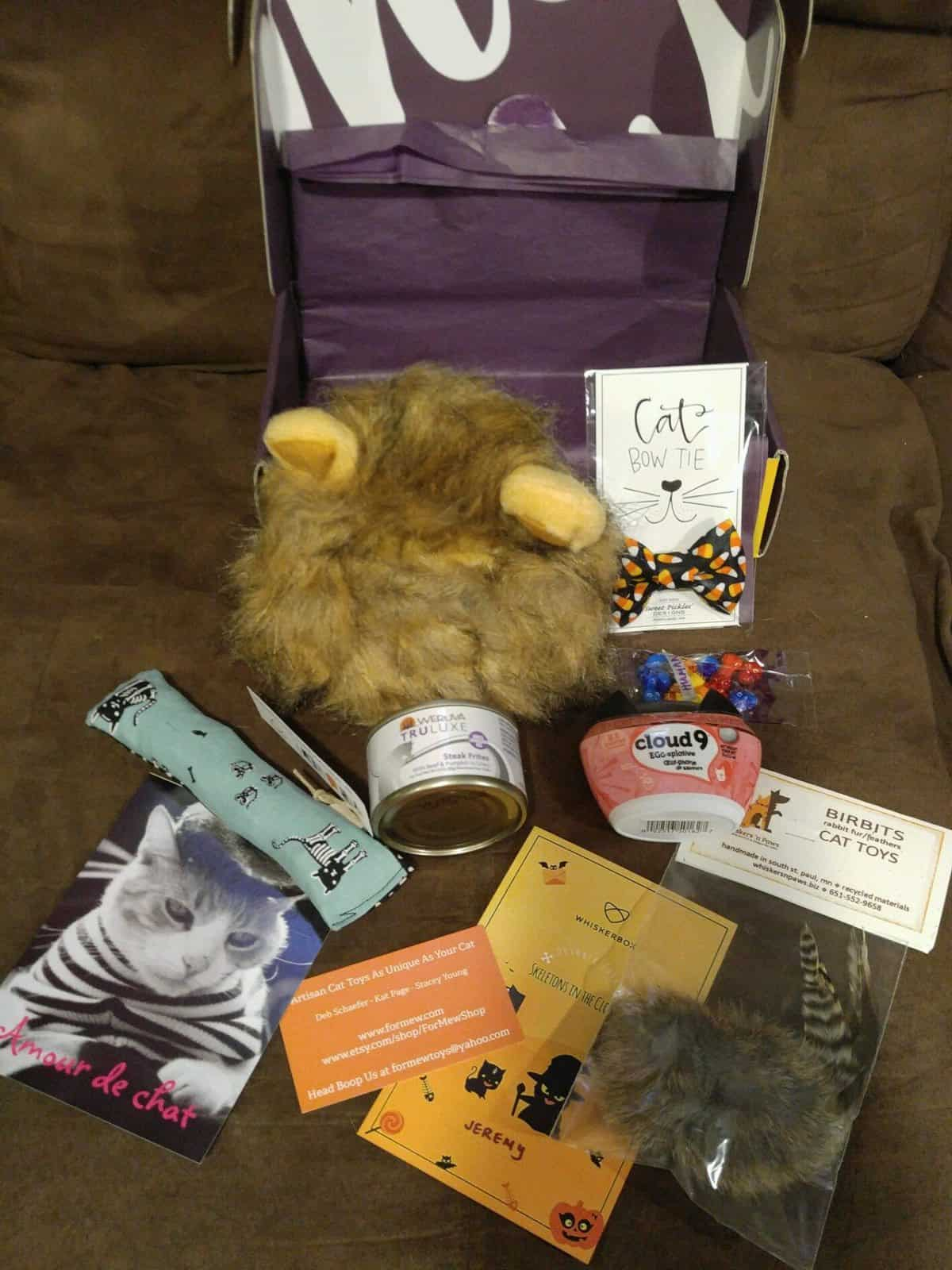 WhiskerBox October 2016 Box Review - Box Contents