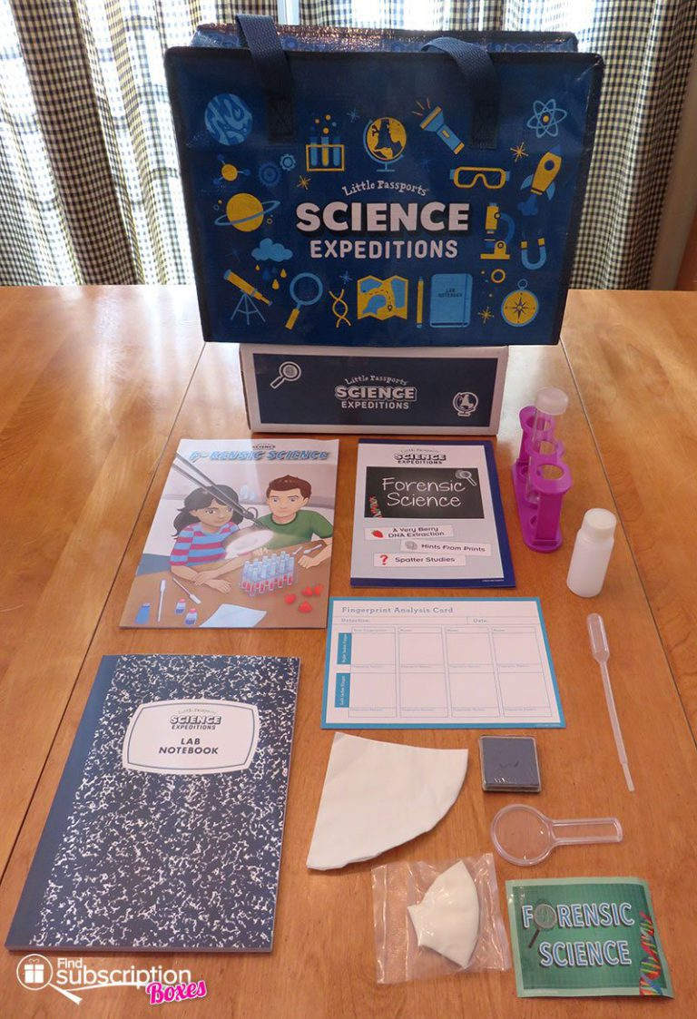 December 2016 Little Passports Science Expeditions Review - Box Contents
