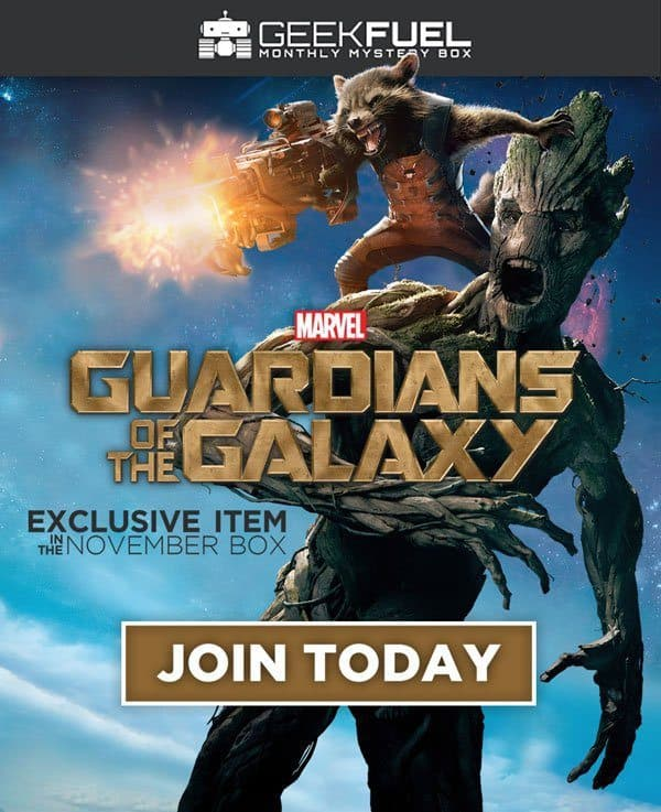 Geek Fuel November 2016 Box Spoiler - Guardians of the Galaxy