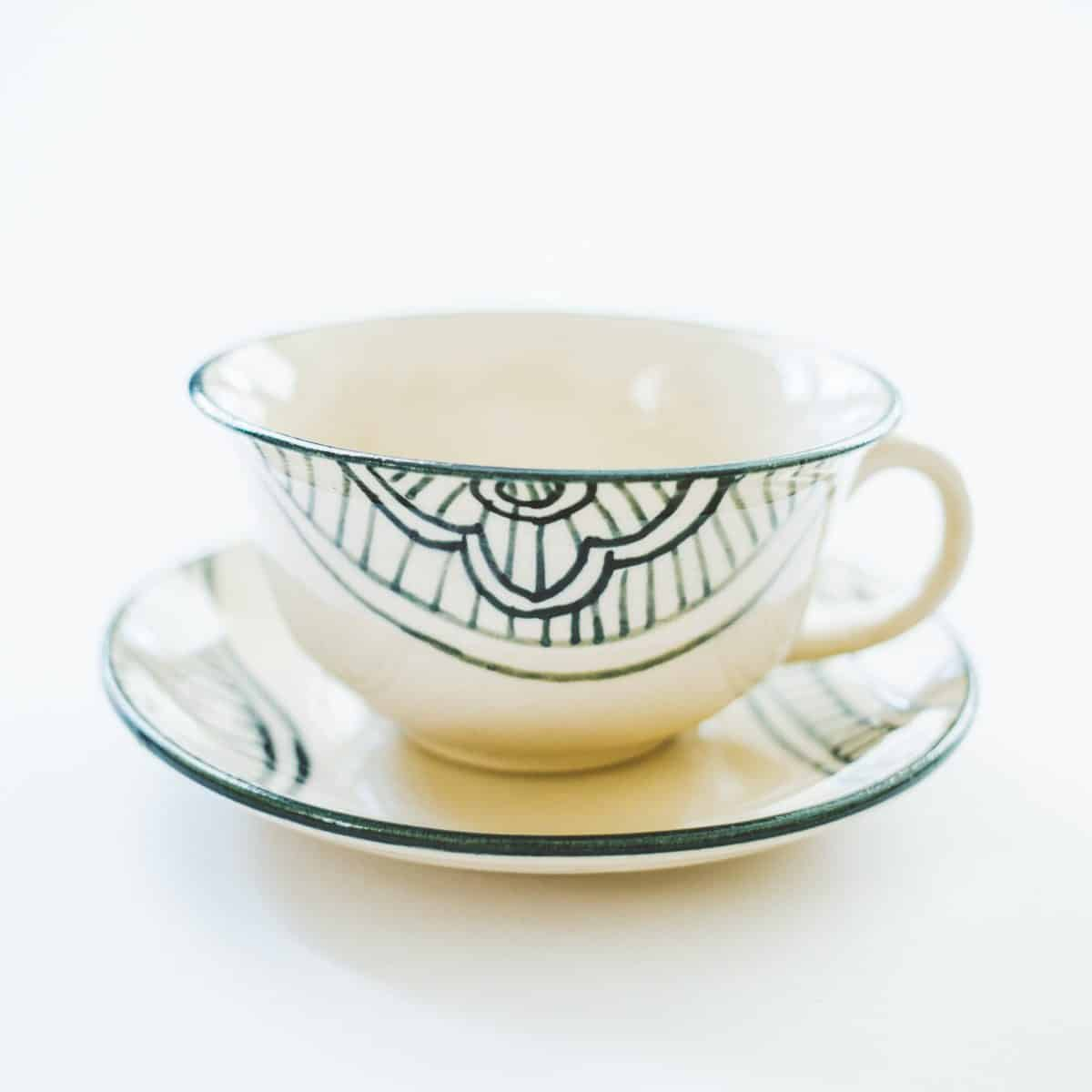GlobeIn December 2016 Artisan Box Spoiler - Ceramic Cup + Saucer