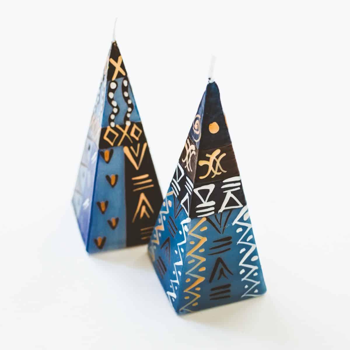 GlobeIn December 2016 Artisan Box Spoiler - Handpainted Candle Set