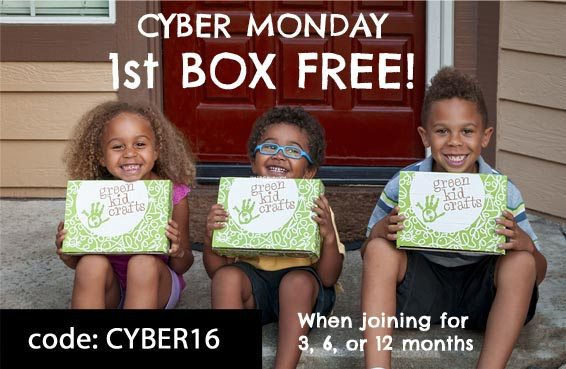 Green Kid Crafts Cyber Monday Sale - Get a Free Discovery Box