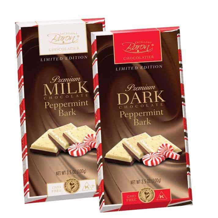 Love With Food December 2016 Box Spoiler - Baron Chocolatier Peppermint Bark