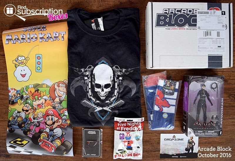 October 2016 Arcade Block Review - Box Contents