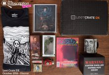 October 2016 Loot Crate DX Review - Horror Crate - Box Contents